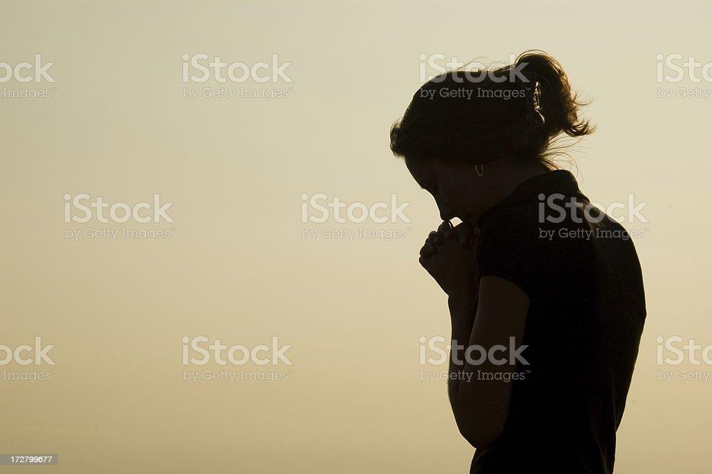 Prayer Silhouette stock photo