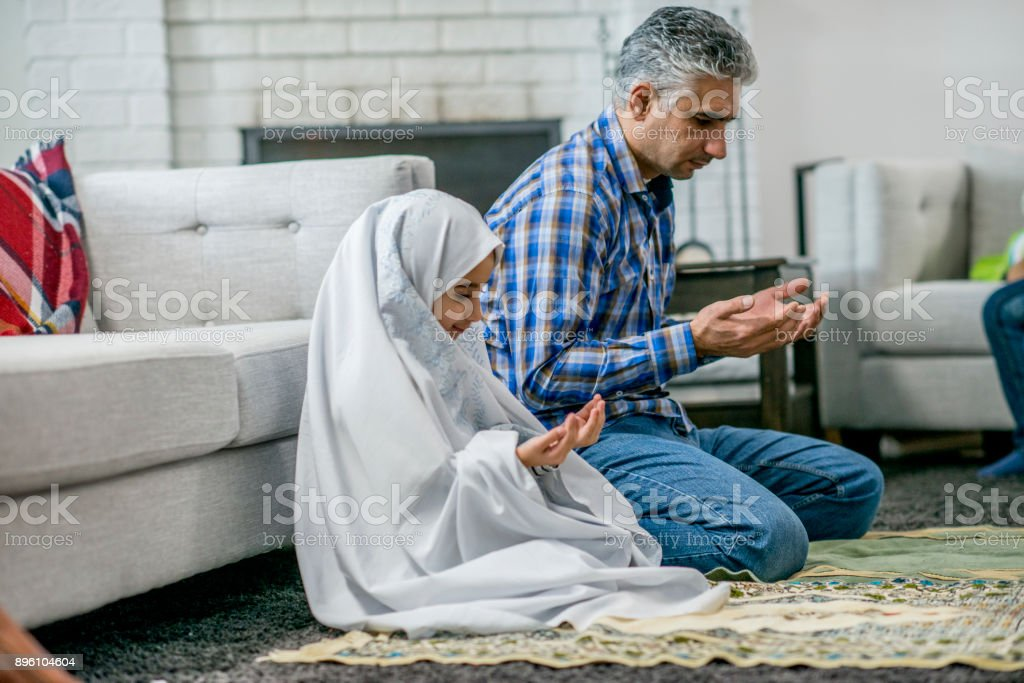 Prayer Time stock photo