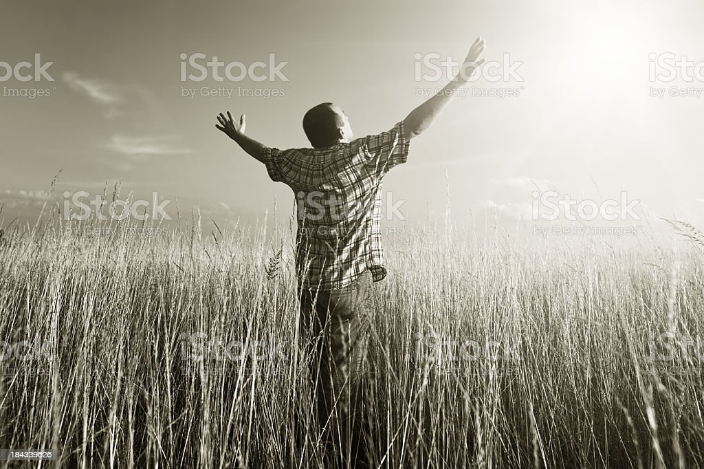 Prayer to God royalty-free stock photo