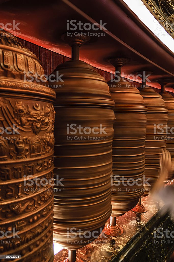 prayer wheel royalty-free stock photo
