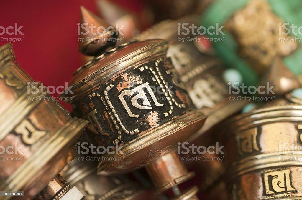 Prayer Wheels - Bhutan Series stock photo