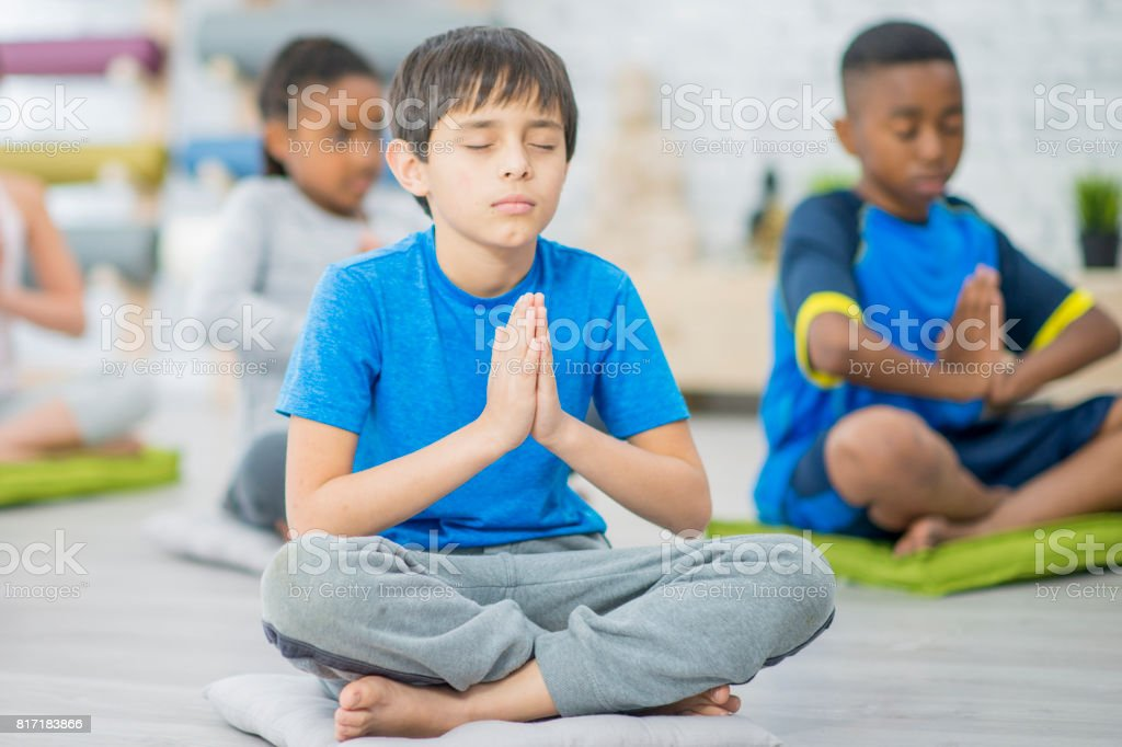 Prayer With Eyes Closed stock photo