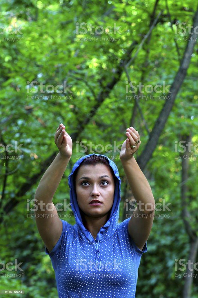 Prayer  woman royalty-free stock photo