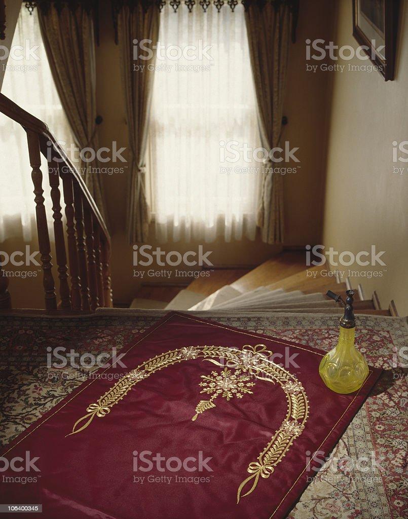 Prayer-rug stock photo