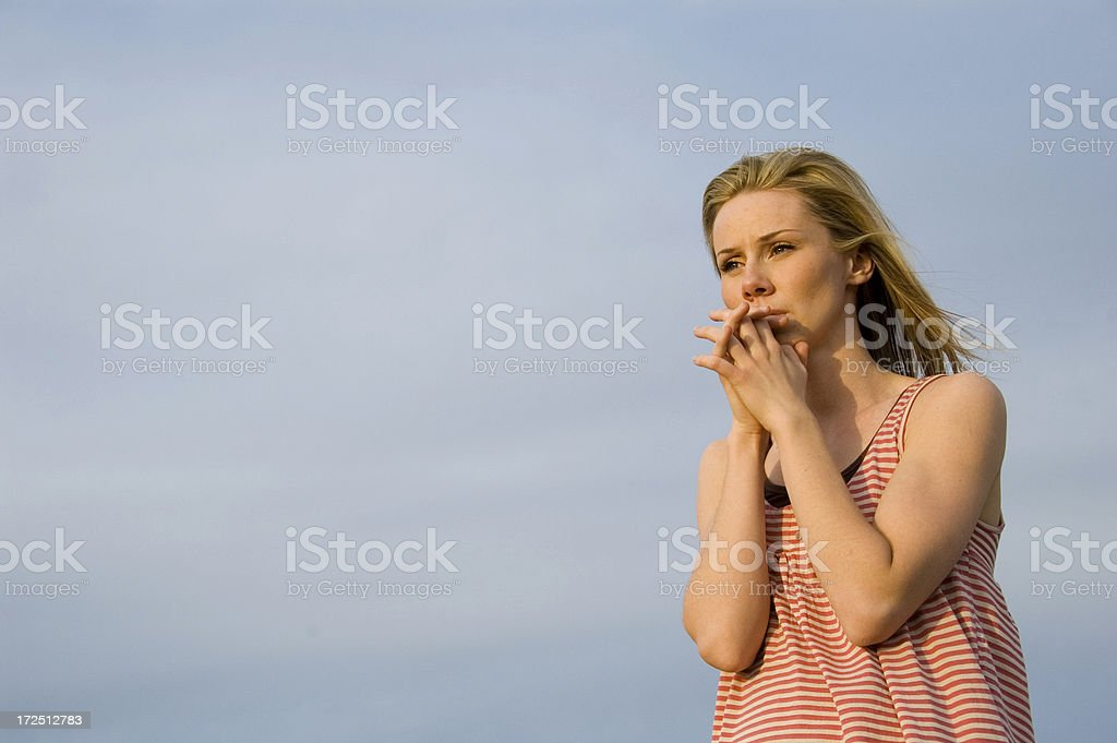 Praying 03 royalty-free stock photo