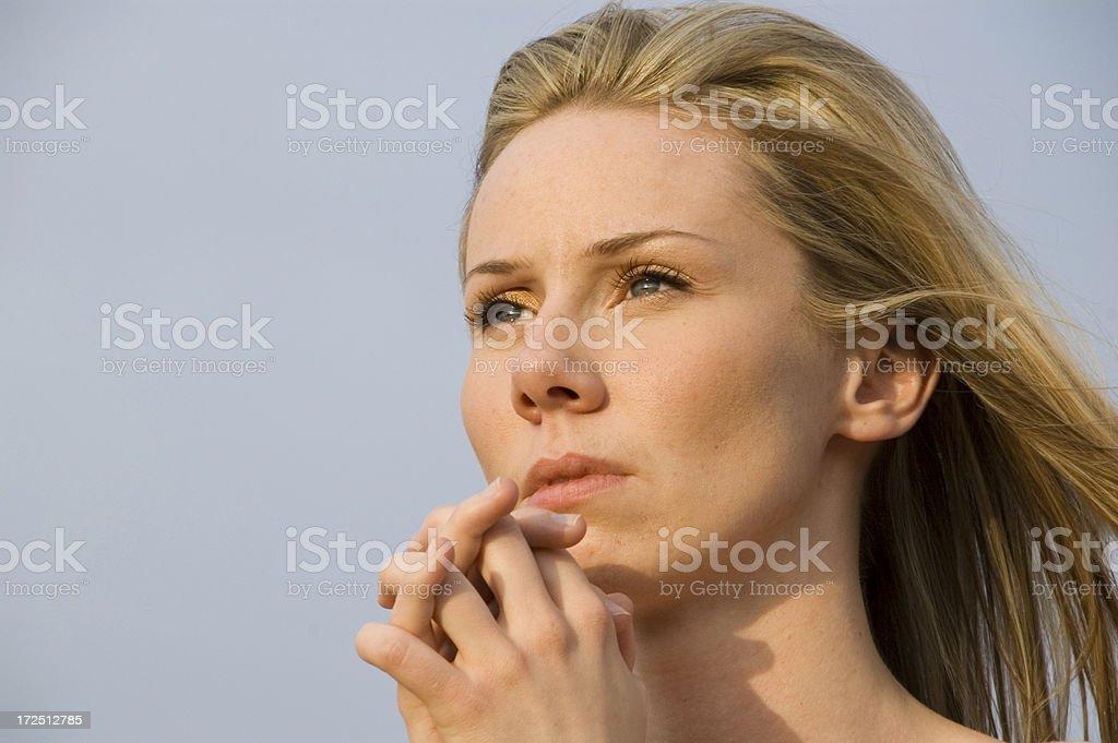 Praying 05 royalty-free stock photo
