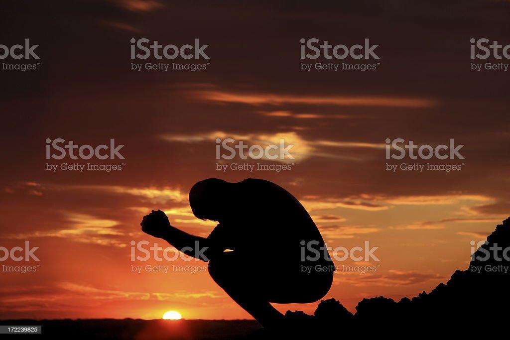 Praying 5 royalty-free stock photo
