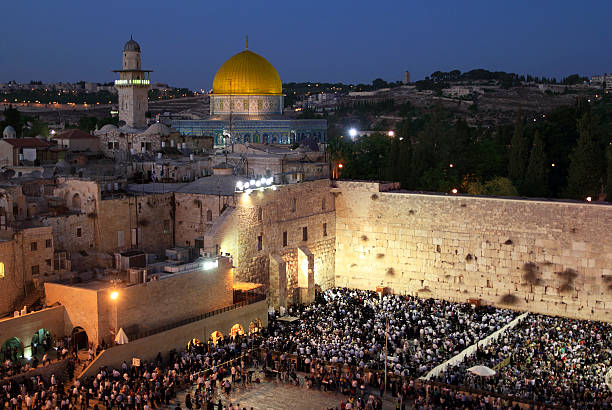 Praying at the Wailing Wall in Jerusalem The most important place of the judaism jerusalem old city stock pictures, royalty-free photos & images