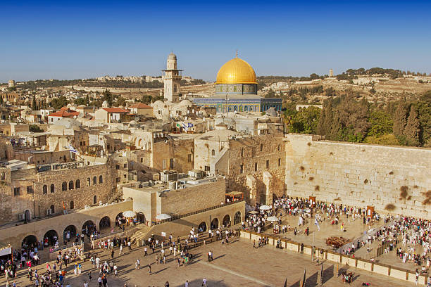 Praying at the Wailing Wall in Jerusalem Israel dome of the rock stock pictures, royalty-free photos & images