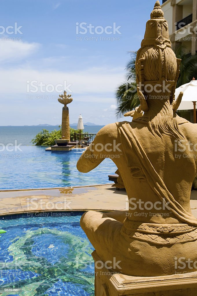 Praying Buddha royalty-free stock photo