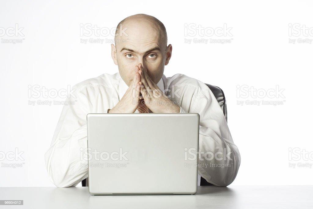 Praying Businessman royalty-free stock photo