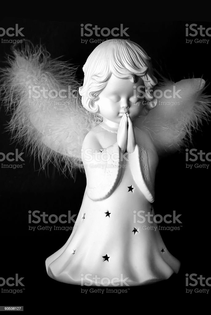 Praying Christmas Angel royalty-free stock photo