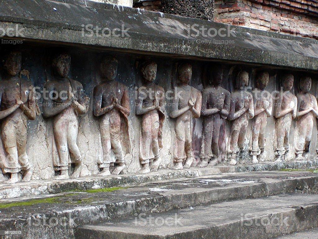 Praying Figurines royalty-free stock photo