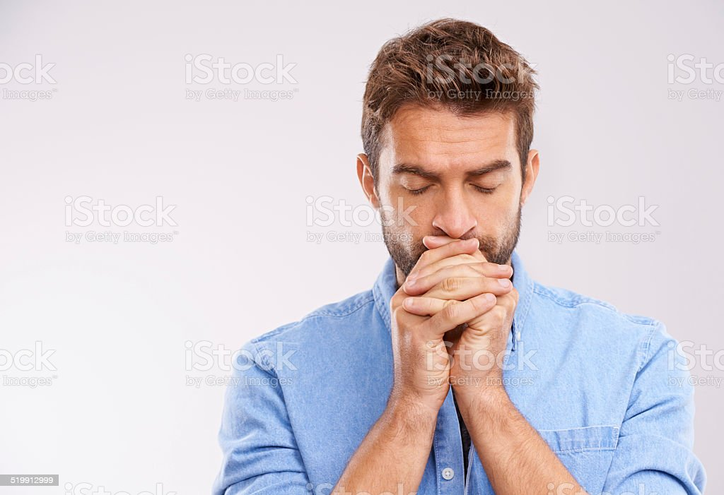 Praying for a miracle stock photo