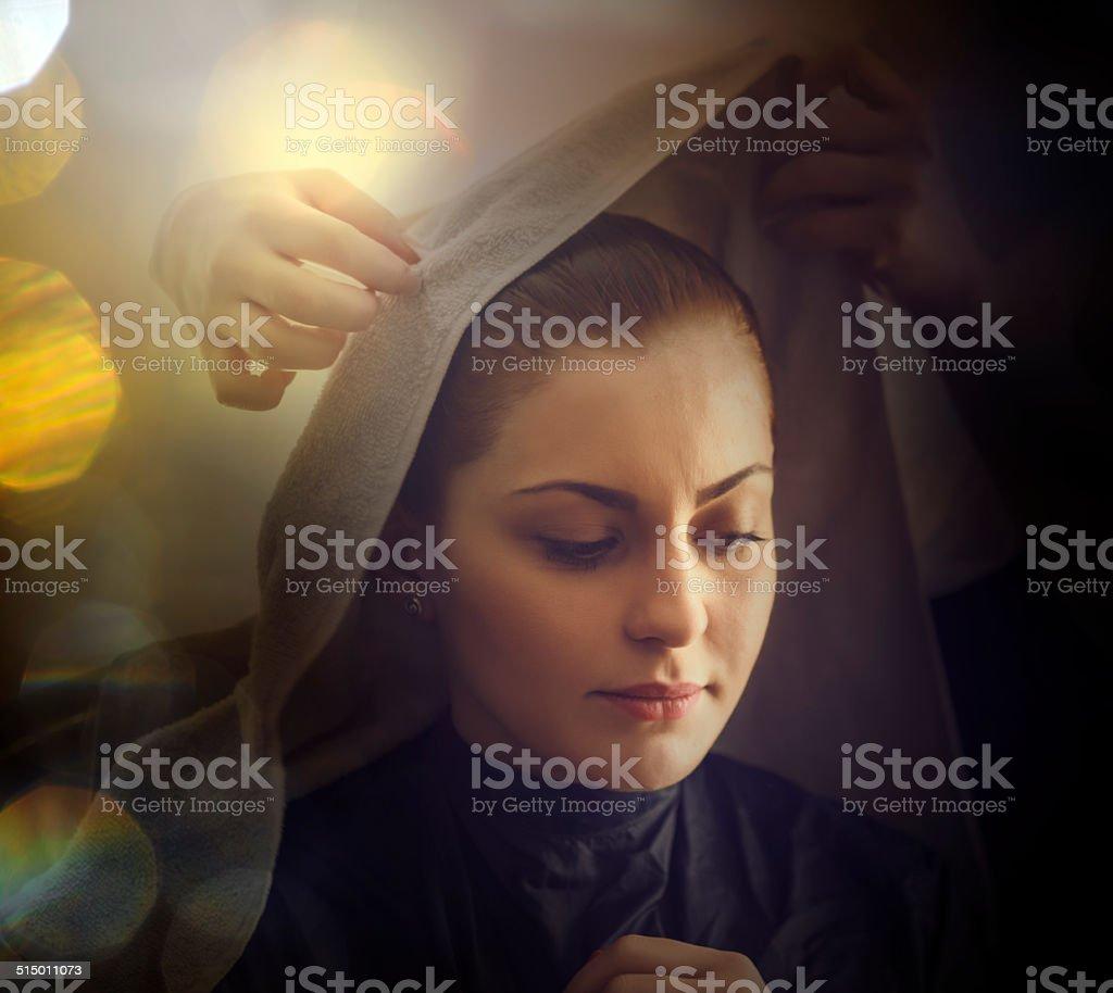 praying for better stock photo