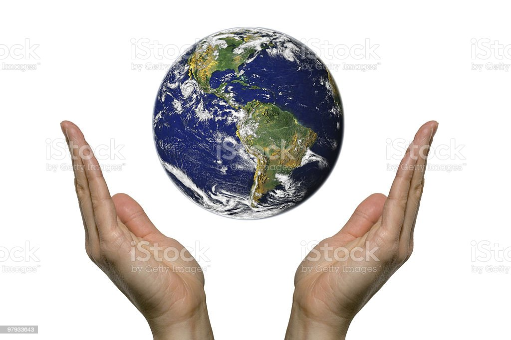 Praying for earth (south america) royalty-free stock photo