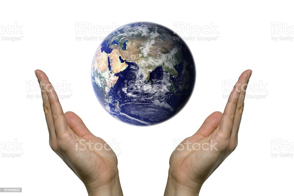 Praying for earth (Asia) royalty-free stock photo