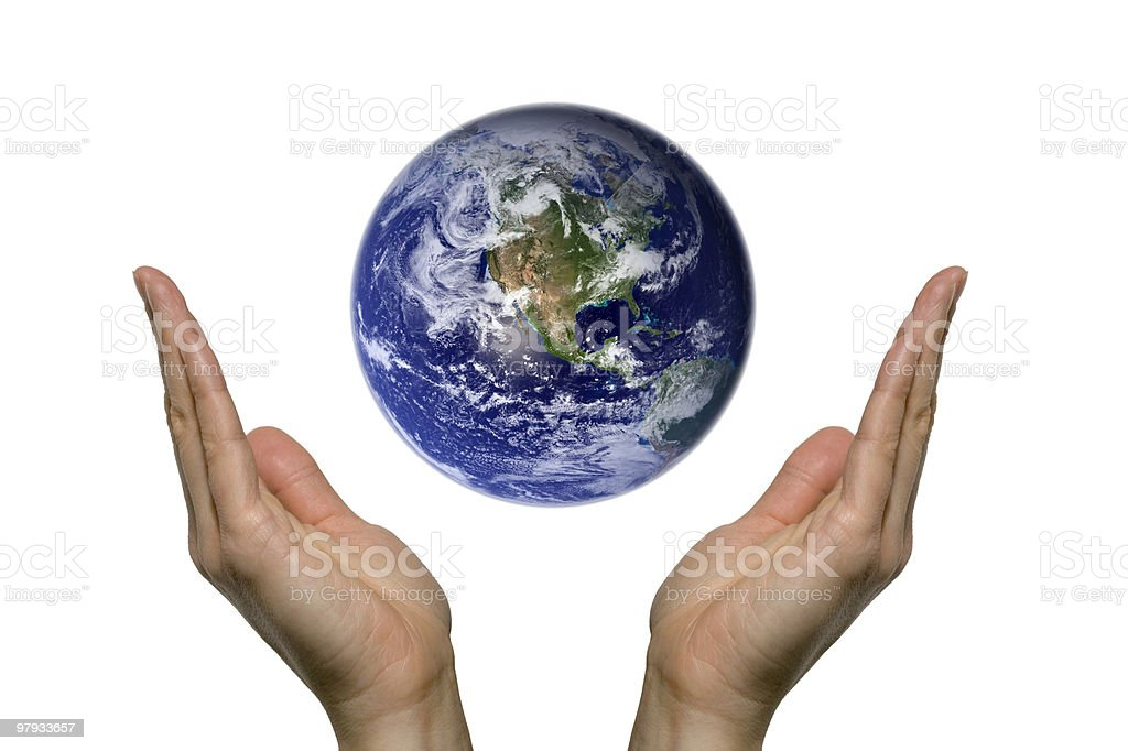 Praying for earth (north america) royalty-free stock photo