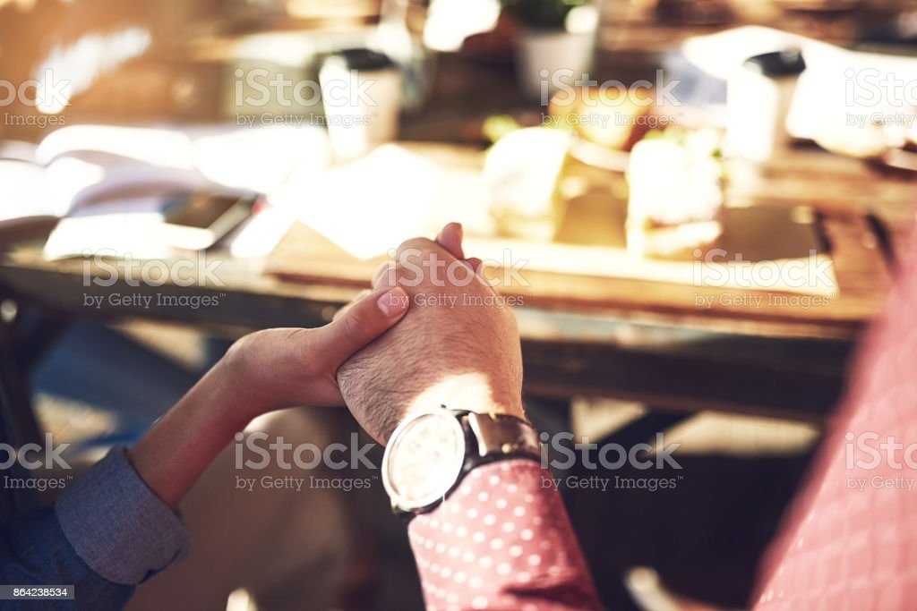 Praying for the meal and meeting we about to have royalty-free stock photo