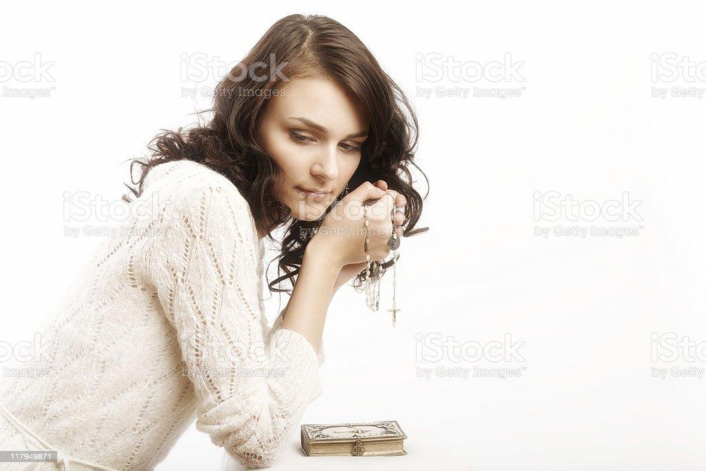 praying girl royalty-free stock photo