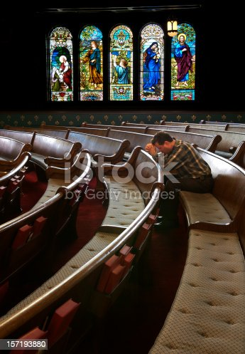 istock Praying in the Sanctuary 157193880