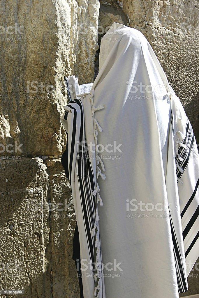 Praying jew with torah stock photo