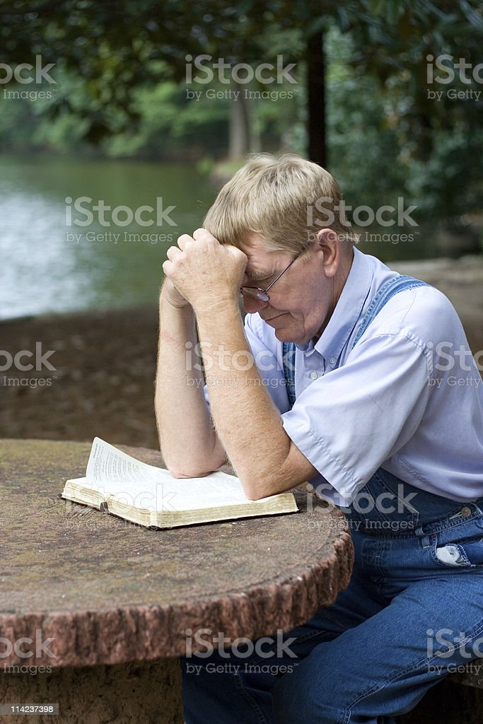 Praying Man royalty-free stock photo