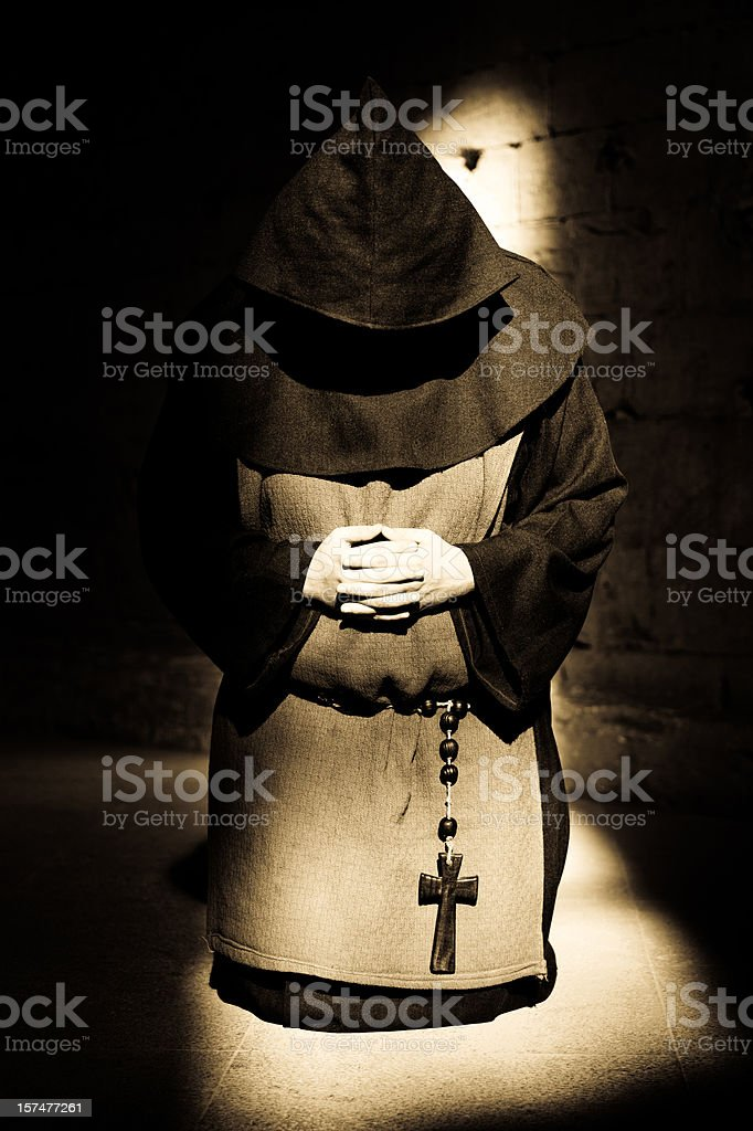 Praying Monk royalty-free stock photo
