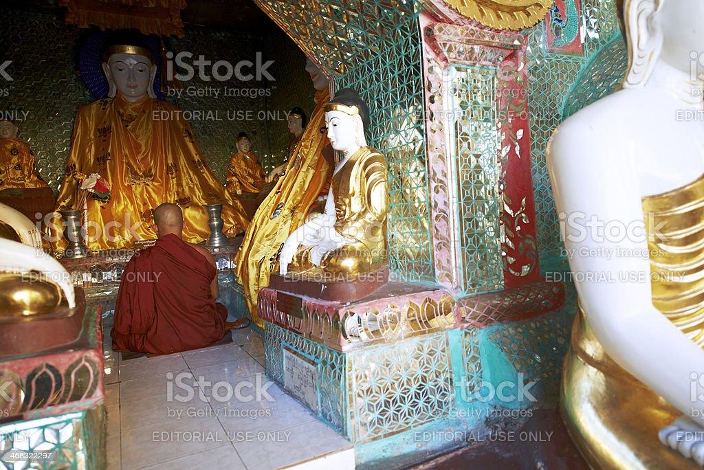 Praying Monk royalty-free stock photo