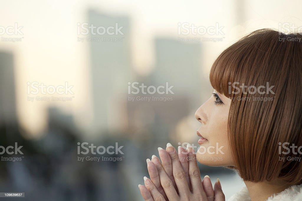 Praying stock photo