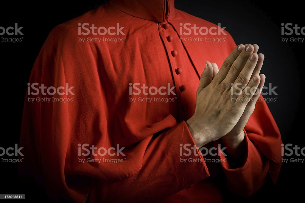 Praying stock photo