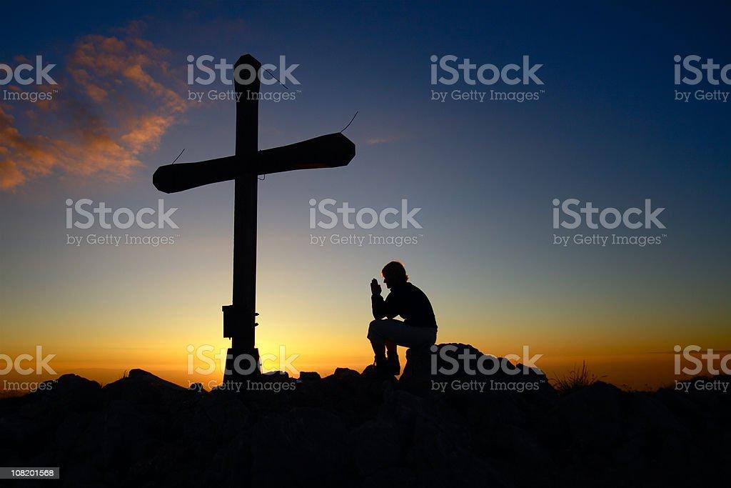 Praying to God royalty-free stock photo