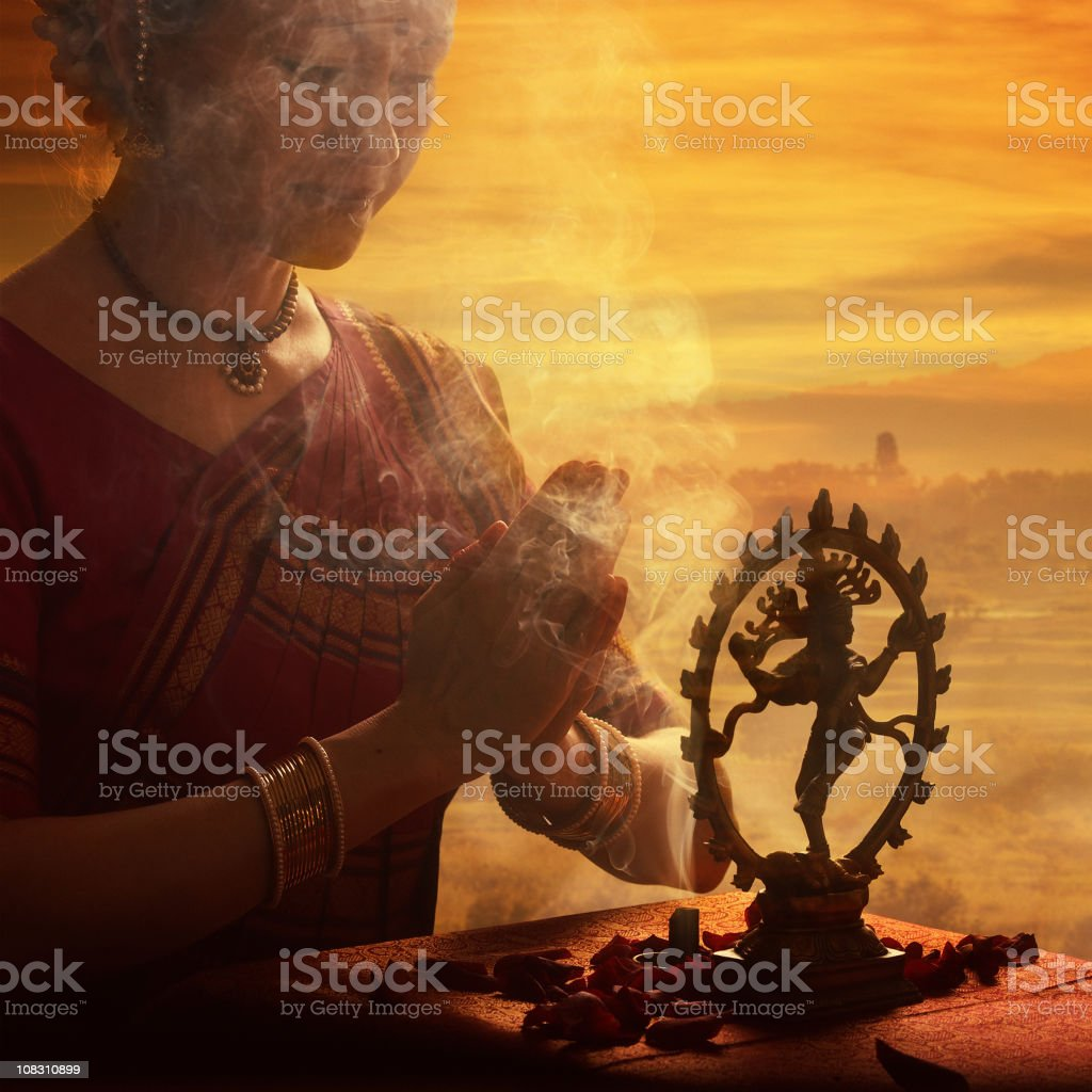 praying to Shiva royalty-free stock photo