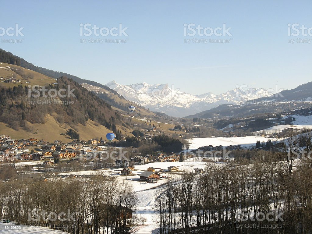 Praz sur Arly in winter royalty-free stock photo
