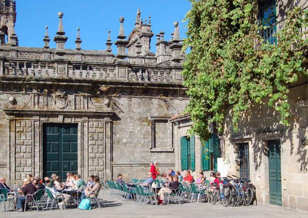 Praza da Quintana de Vivos - Santiago de Compostela stock photo