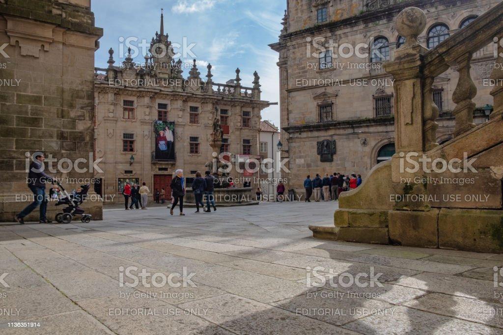 Praza das Praterías in Santiago de Compostela an der Kathedrale von Santiago. – Foto
