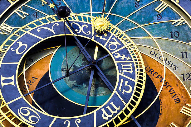 Prazski orloj Detail of famous astronomical clock Prazski orloj (Prague, Czech Republic) astronomical clock prague stock pictures, royalty-free photos & images