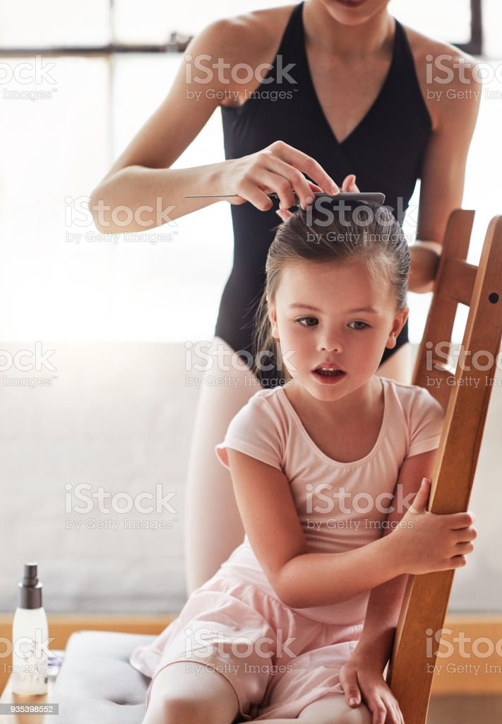 Pre ballet practice prep stock photo