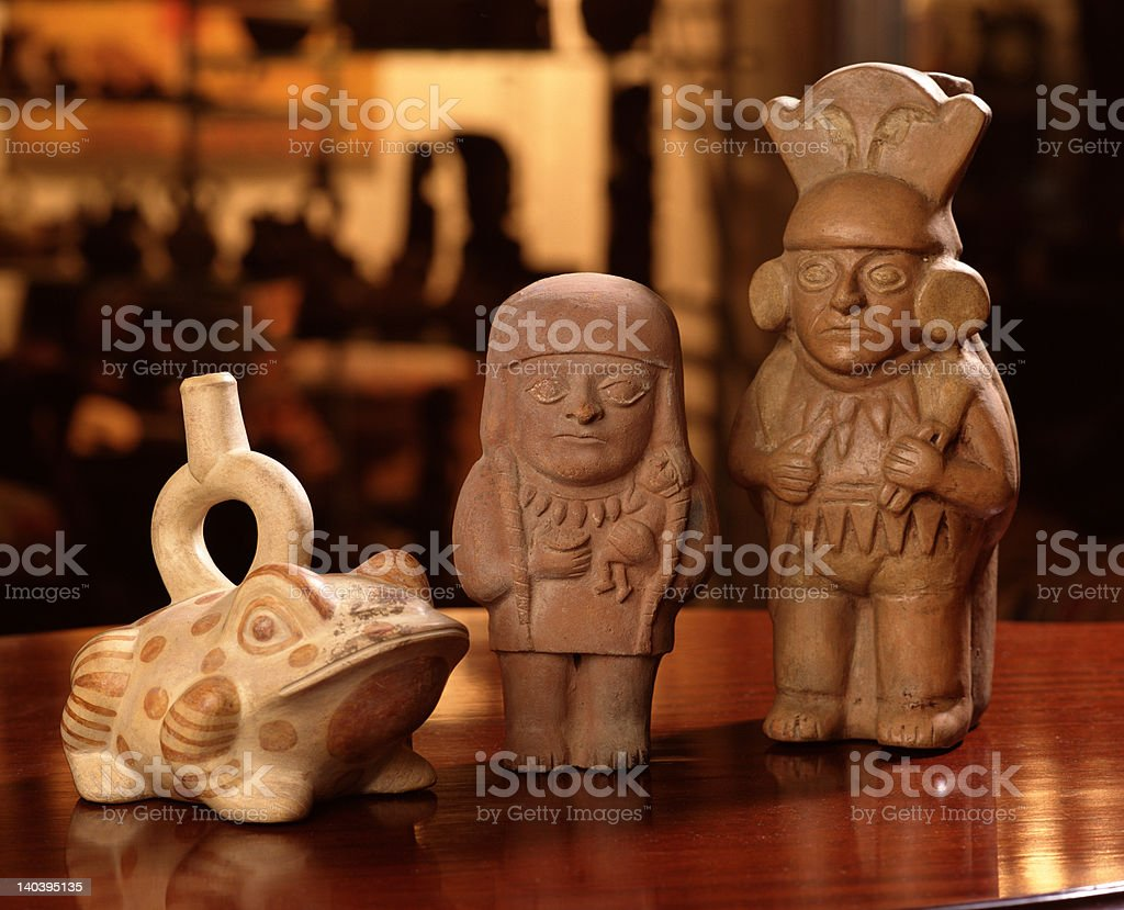 Pre columbian inca pottery royalty-free stock photo