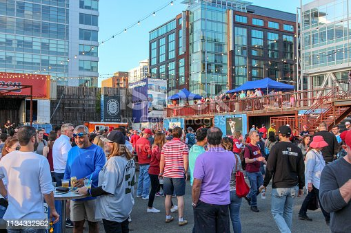 Washington DC, United States - pre game party and tailgating before a Nationals game at the Bullpenn