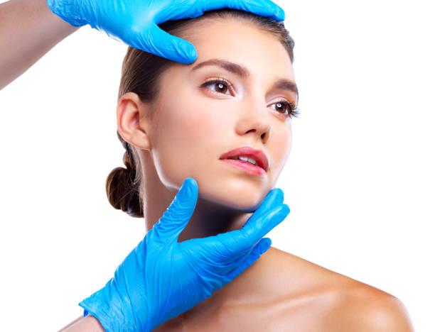 Pre plastic surgery prep stock photo