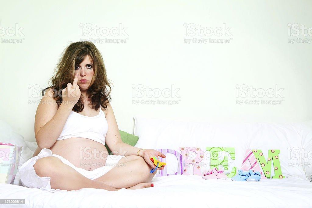 Antes del embarazo pissed de - foto de stock