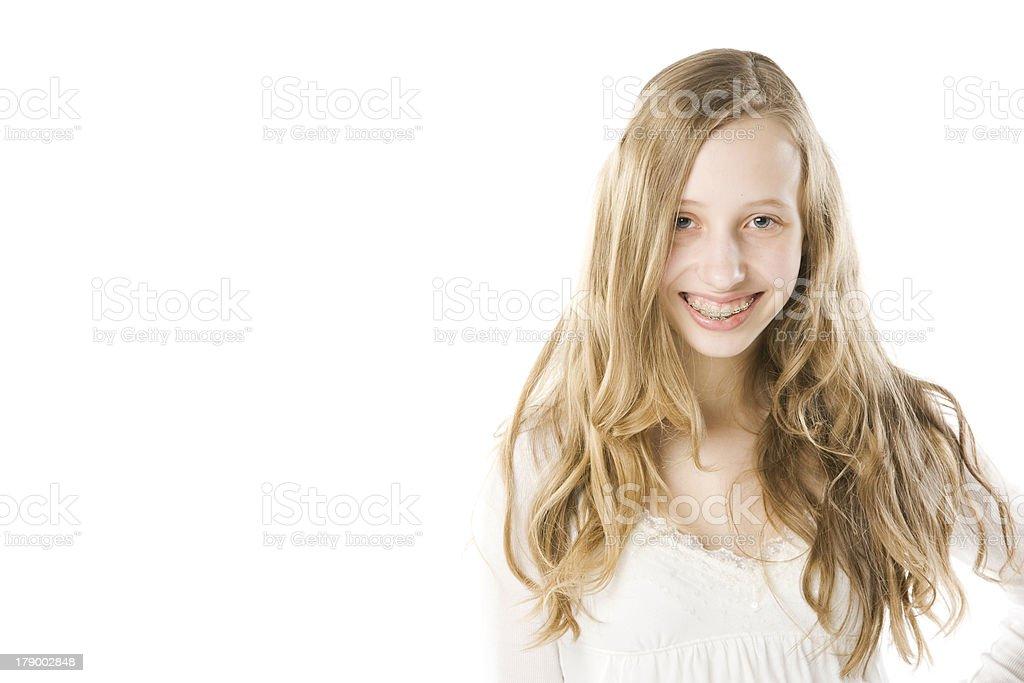 Blonde Teen Braces