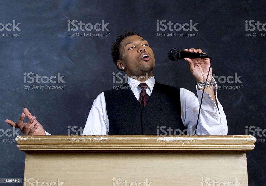 Preacher royalty-free stock photo
