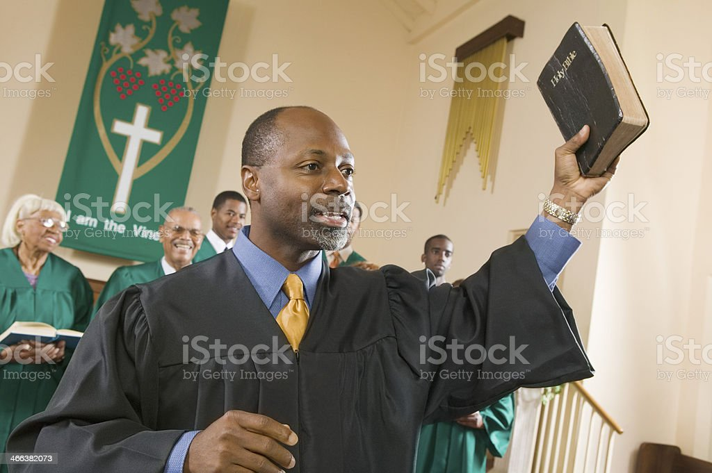 Preacher Preaching the Gospel stock photo