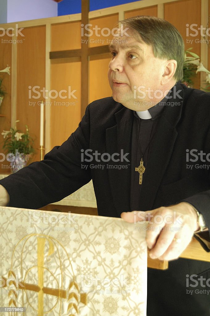 Preaching From The Pulpit royalty-free stock photo