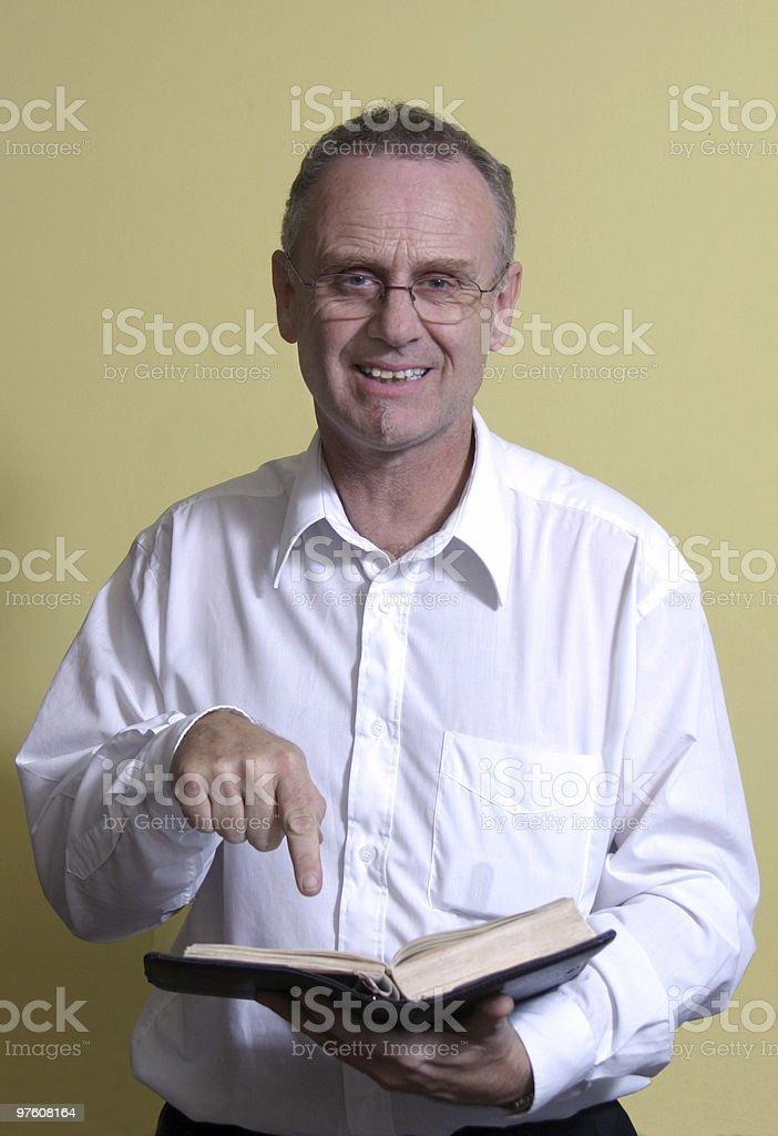 Preaching Man royaltyfri bildbanksbilder