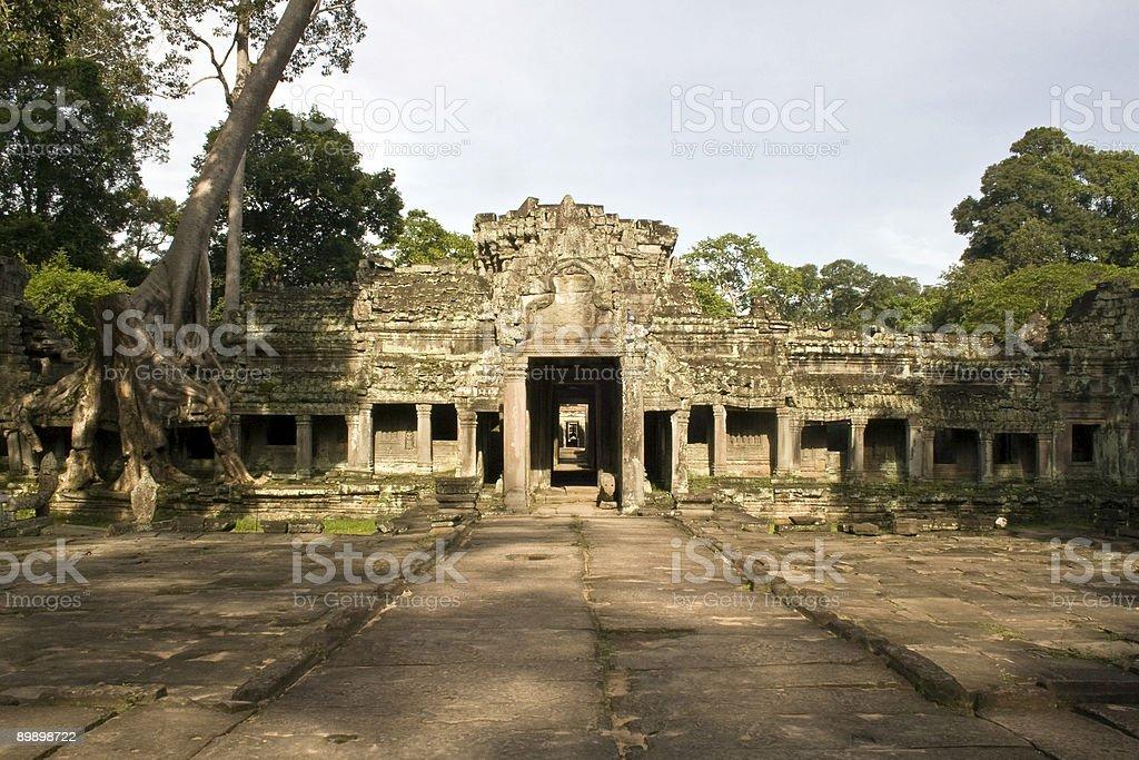 Храм Преа Кхан вход, Angkor — Камбоджа Стоковые фото Стоковая фотография