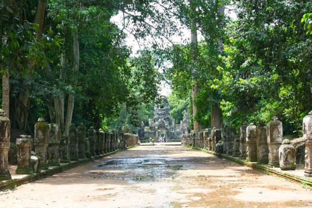 Preah Khan Temple in Siem Reap stock photo