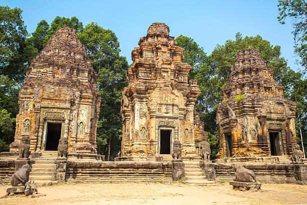 Preah Ko temple in Angkor Wat complex, Siem Reap, Cambodia stock photo
